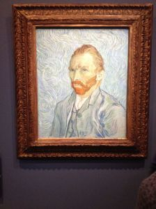 One of Van Gogh's self-portraits in the Musee d'Orsay